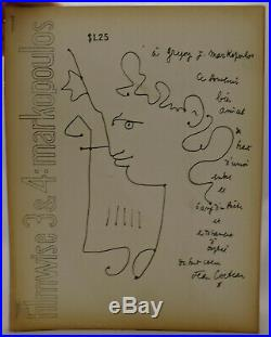 Gregory J. Markopoulos SIGNED Filmwise 3 & 4 Jean Cocteau First Edition