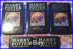 HARRY POTTER AND THE DEATHLY HALLOWS FIRST EDITION 1st deluxe sealed RARE