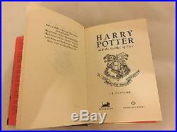 HARRY POTTER Canadian Goblet Of Fire RARE 1st First Edition J. K. Rowling SIGNED
