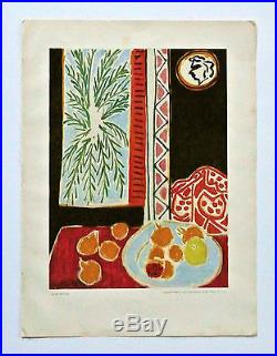 Henri Matisse - A Rare First Edition Crayon Signed French Lithograph, Litho