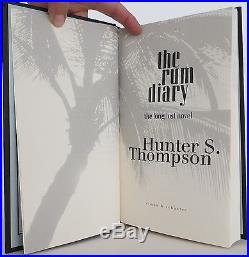 HUNTER S. THOMPSON Rum Diary SIGNED FIRST EDITION