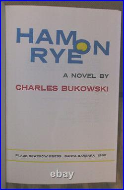 Ham on Rye by Charles Bukowski-Signed, Numbered First Edition-1982