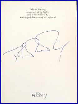 Hand Signed By Jk Rowling First Edition Harry Potter And The Goblet Of Fire