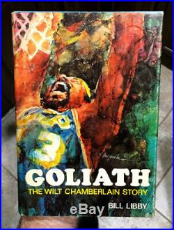 Hard To Find Wilt Chamberlain Signed First Edition 1977 Hardcover Book Goliath