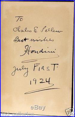 Harry HOUDINI A Magician Among the Spirits FIRST EDITION SIGNED & INSCRIBED