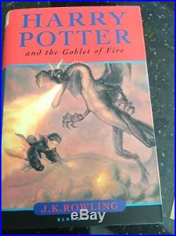 Harry Potter And the Goblet Of fire First edition Signed By JK Rowling