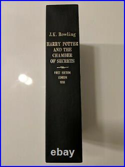 Harry Potter Chamber of Secrets SIGNED UK FIRST EDITION J. K. Rowling 1/1