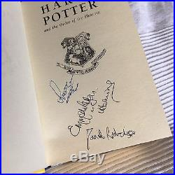 Harry Potter Emma Watson & Cast Signed First Print 1st Edition Book J K Rowling