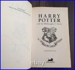 Harry Potter FIRST EDITION 1st and signed Philosphers Stone Bloomsbury Full Set