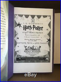 Harry Potter Illustrator Mary Grand Pre Hand Signed Book first edition