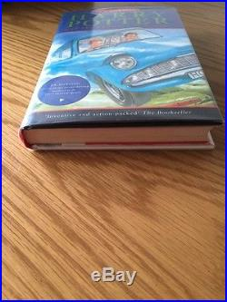 Harry Potter & The Chamber Of Secrets FIRST UK EDITION (1/1) HB 1998 & SIGNATURE