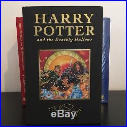 Harry Potter UK Deluxe Collectors First Edition Hardback Books Signed Set Sealed
