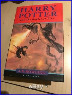 Harry Potter and The Goblet Of Fire SIGNED FIRST EDITION 2000