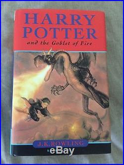 Harry Potter and The Goblet of Fire FIRST EDITION SIGNED J. K. ROWLING