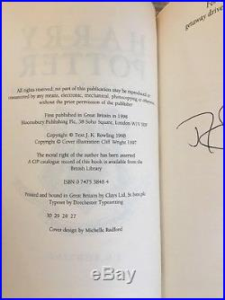 Harry Potter and the Chamber Of Secrets Signed J K Rowling First Edition Book