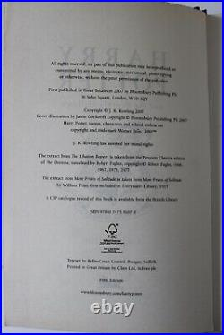 Harry Potter and the Deathly Hallows. Deluxe Sign 1st Edition
