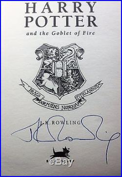 Harry Potter and the Goblet of Fire First Edition Signed