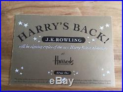 Harry Potter and the Goblet of Fire, signed first edition plus golden ticket