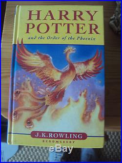 Harry Potter and the Order of the Phoenix FIRST EDITION SIGNED JK Rowling