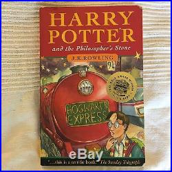 Harry Potter and the Philosopher's Stone Signed J K Rowling First Edition Book