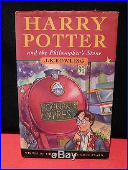 Harry Potter and the Philosophers Stone First Edition Third Printing. 1997