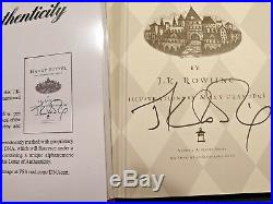Harry Potter and the Sorcerer's Stone Signed First Edition With COA