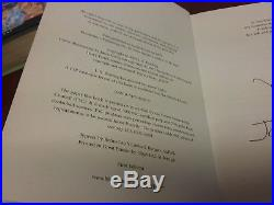 Harry Potter first edition signed books