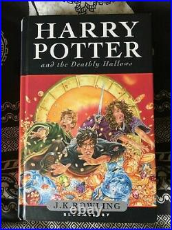 Harry potter and the deathly hallows 1st edition Signed