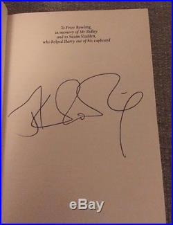 Harry potter goblet of fire first edition Ultra Rare Omnia SIGNED (with Errors)