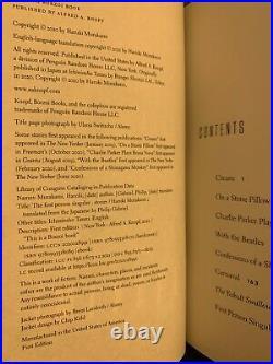 Haruki Murakami SIGNED BOOK First Person Singular 1ST EDITION Hardcover IN HAND