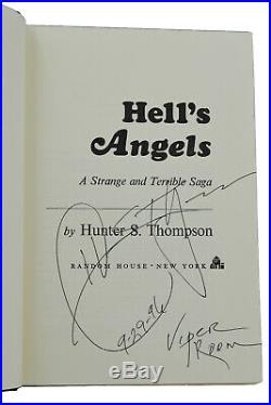 Hell's Angels SIGNED by HUNTER S. THOMPSON First Edition 2nd Printing 1967