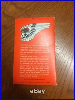 Hell's Angels by Hunter S. Thompson signed rare 1st edition vintage penguin 1967