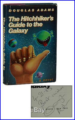 Hitchhiker's Guide to the Galaxy SIGNED by DOUGLAS ADAMS First Edition 1st