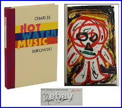 Hot Water Music CHARLES BUKOWSKI Signed w Original Painting First Edition 1983