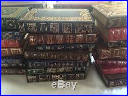 Huge Lot 45 Leather Franklin Library Signed First Edition Elie Wiesel Vonnegut