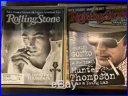 Hunter S Thompson Collection Lot Signed Rare Oop 1st Editions Rolling Stones Mag