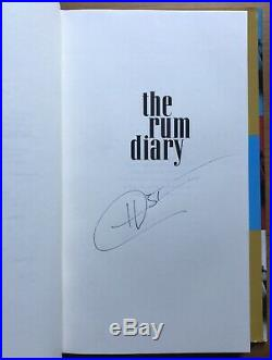 Hunter S. Thompson The Rum Diary SIGNED First Edition 1st/1st HCDJ 1998