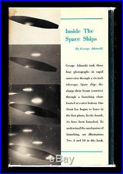 INSIDE THE SPACE SHIPS (1955) GEORGE ADAMSKI, SIGNED, 1st Edition