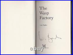 Iain Banks The Wasp Factory SIGNED 1st/1st Macmillan 1984, Excellent Copy
