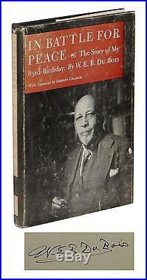 In Battle for Peace SIGNED by W. E. B. Du BOIS First Edition 1st WEB DUBOIS