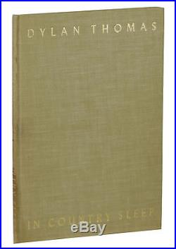 In Country Sleep DYLAN THOMAS Signed Limited Edition 1952 First 1/100 cc