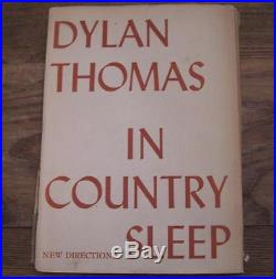 In Country Sleep. First edition, signed by Dylan Thomas 1952 Do Not Go Gentle