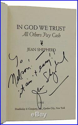 In God We Trust JEAN SHEPHERD Signed First Edition 1966 1st A Christmas Story