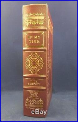 In My Time Dick Cheney Easton Press Signed First Edition Leather Collectors