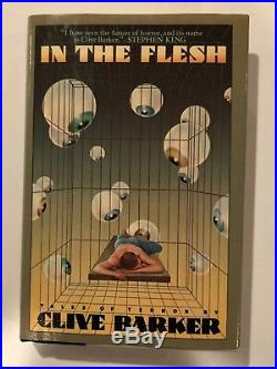 In The Flesh Tales of Terror by Clive Barker (First U. S. Edition) Signed withArt