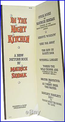 In the Night Kitchen First Edition Signed Maurice Sendak 1st Printing 1970 Book