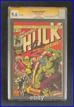 Incredible Hulk #181 Cgc Ss 9.6 Stan Lee 1st Wolverine Euro Variant X-men