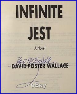 Infinite Jest Signed First Edition 1996 David Foster Wallace Back Bay Books Rare