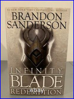 Infinity BladeRedemption by Brandon Sanderson 1st Edition Signed (Out of Print)