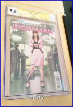Invincible Iron Man #7 Variant 1st Riri Williams CGC 9.8 Signed Stan Lee